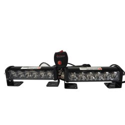 Federal LED Strobe Light Blinkers DRL with Remote (6 Bulbs) (White)