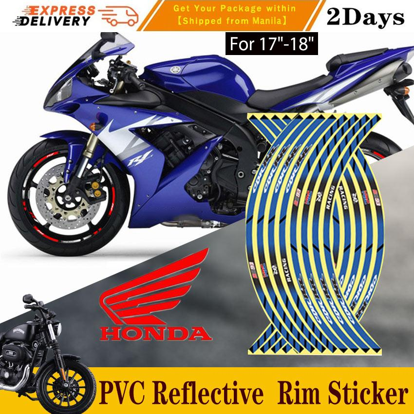 Gloss Red Motorcycle Inner Rim Tape Sticker Decal for Yamaha YZF R3