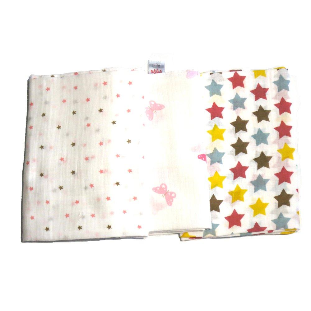 Feo en Rafa Muslin Swaddle Set of 3 (Stars/Butterfly) - thumbnail