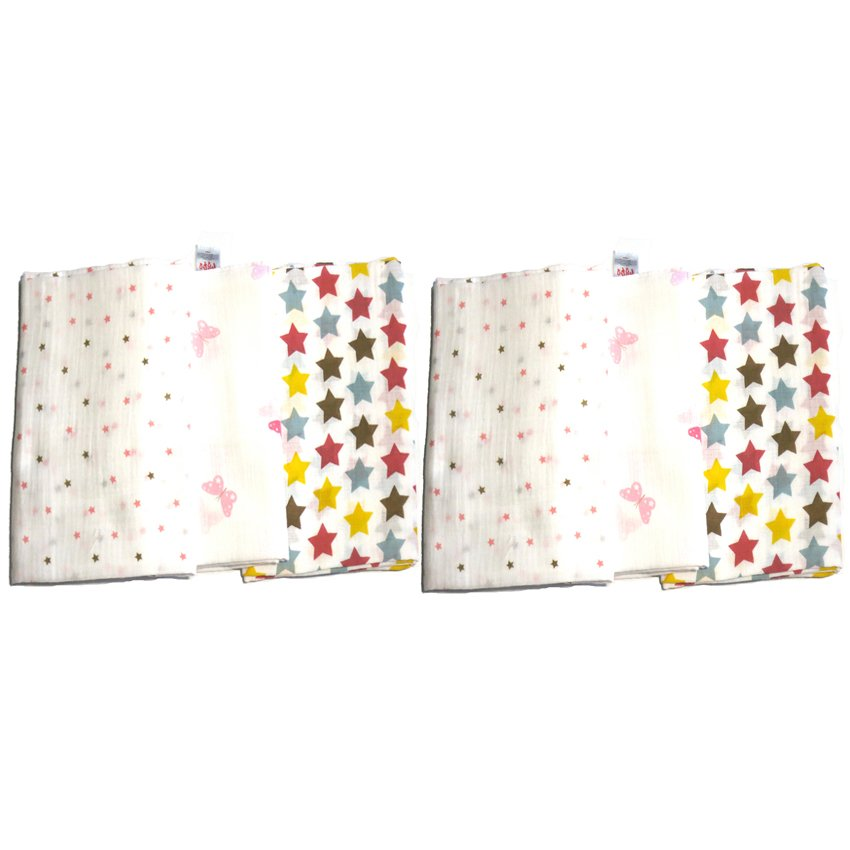 Feo en Rafa Muslin Swaddle (Stars/Butterfly) Bundle of 6 product preview, discount at cheapest price