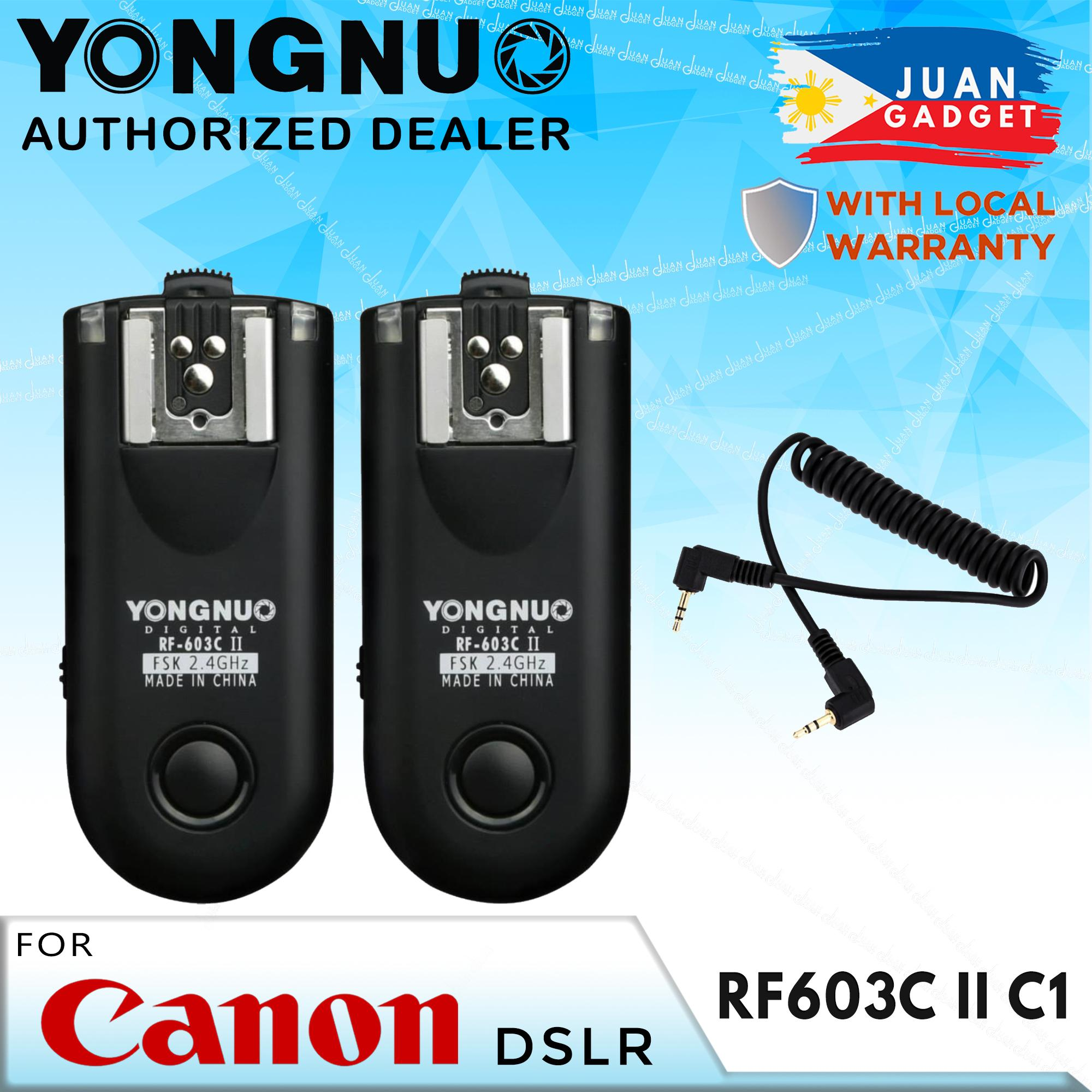 Yongnuo RF603 C II Wireless Flash Trigger Kit for Canon 2 5mm Connection
