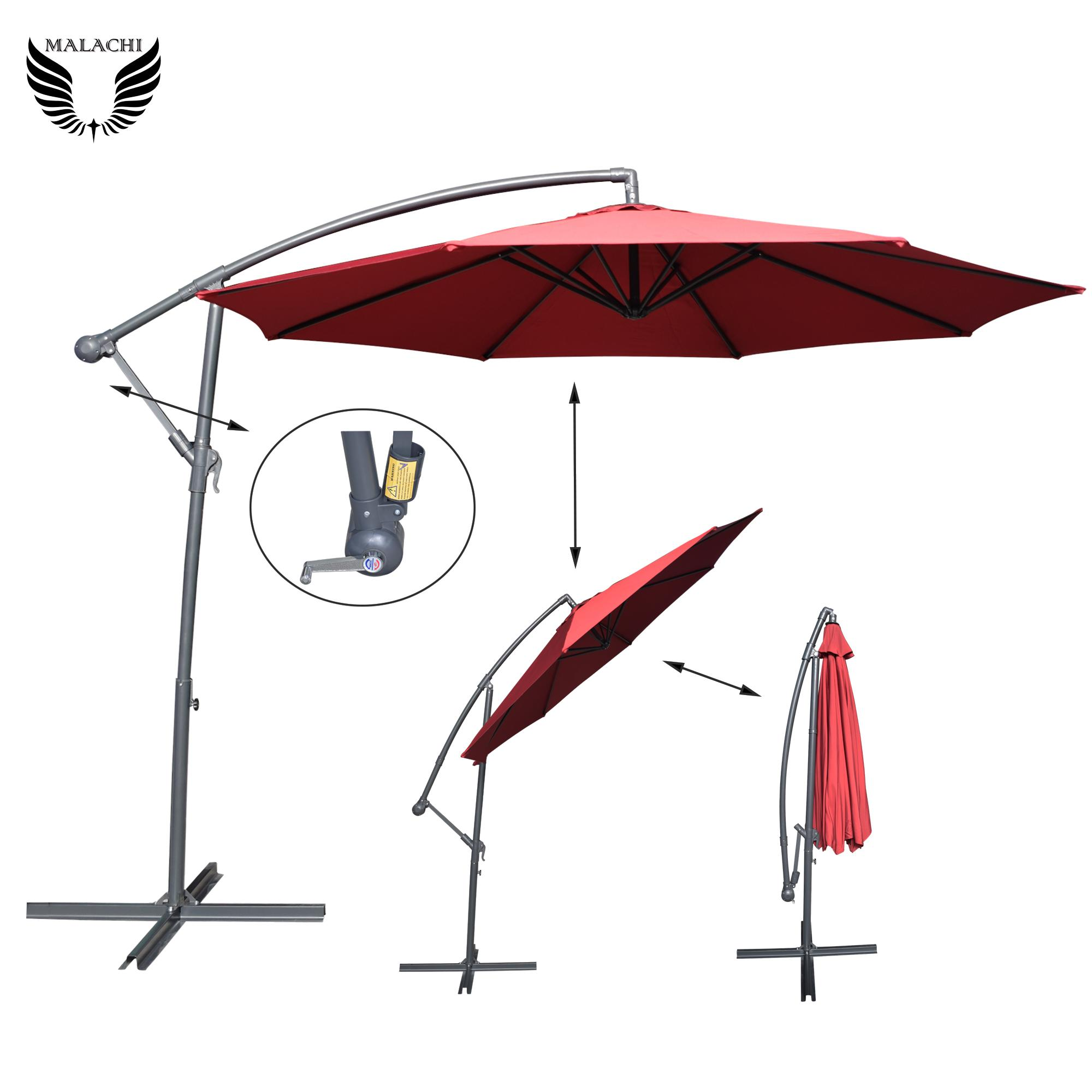 Malachi 290cm Outdoor Garden Parasol Canopy Cover Yard Patio Umbrella