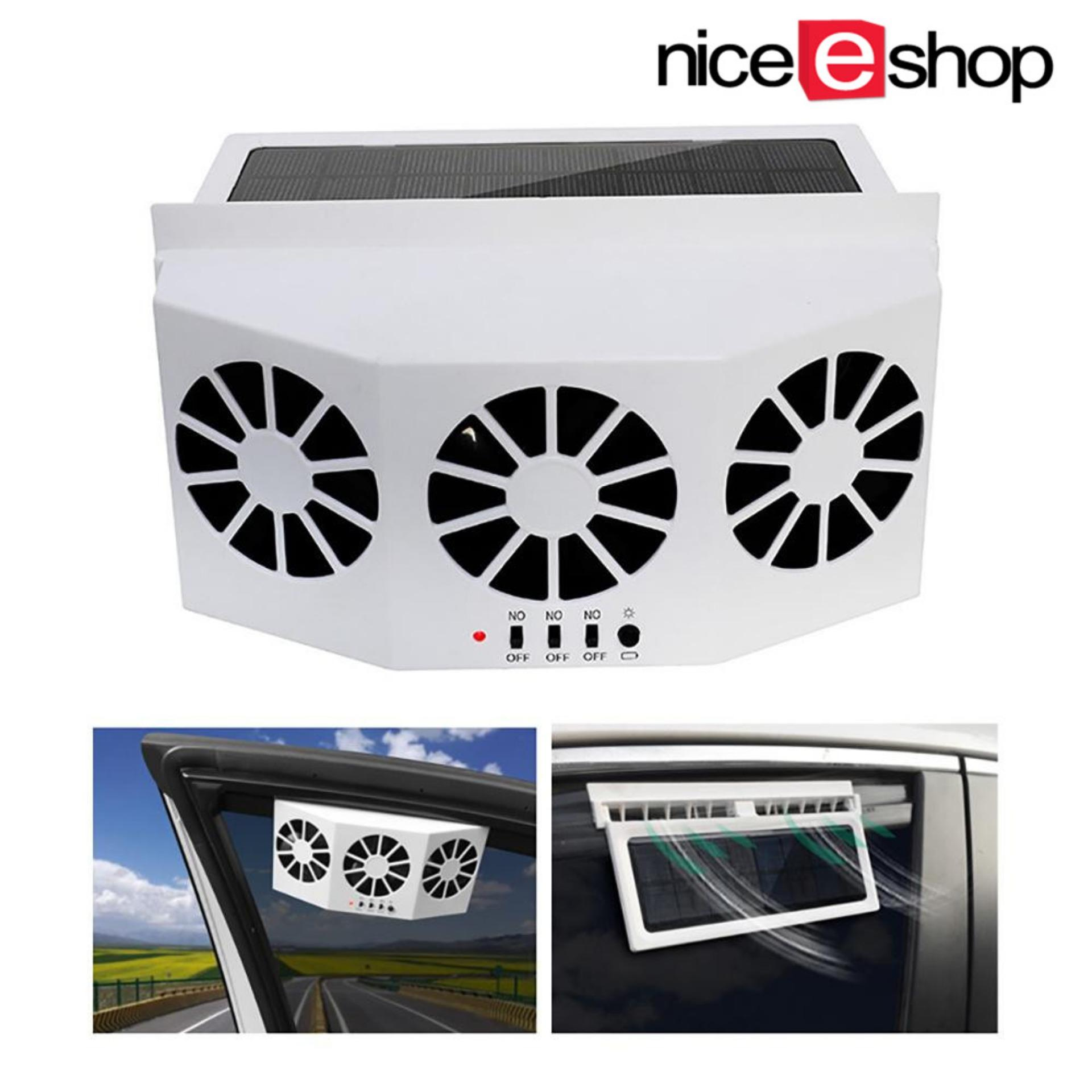 niceEshop Solar Powered Car Window Air Vent Ventilator Mini Air Conditioner  Cool Fan
