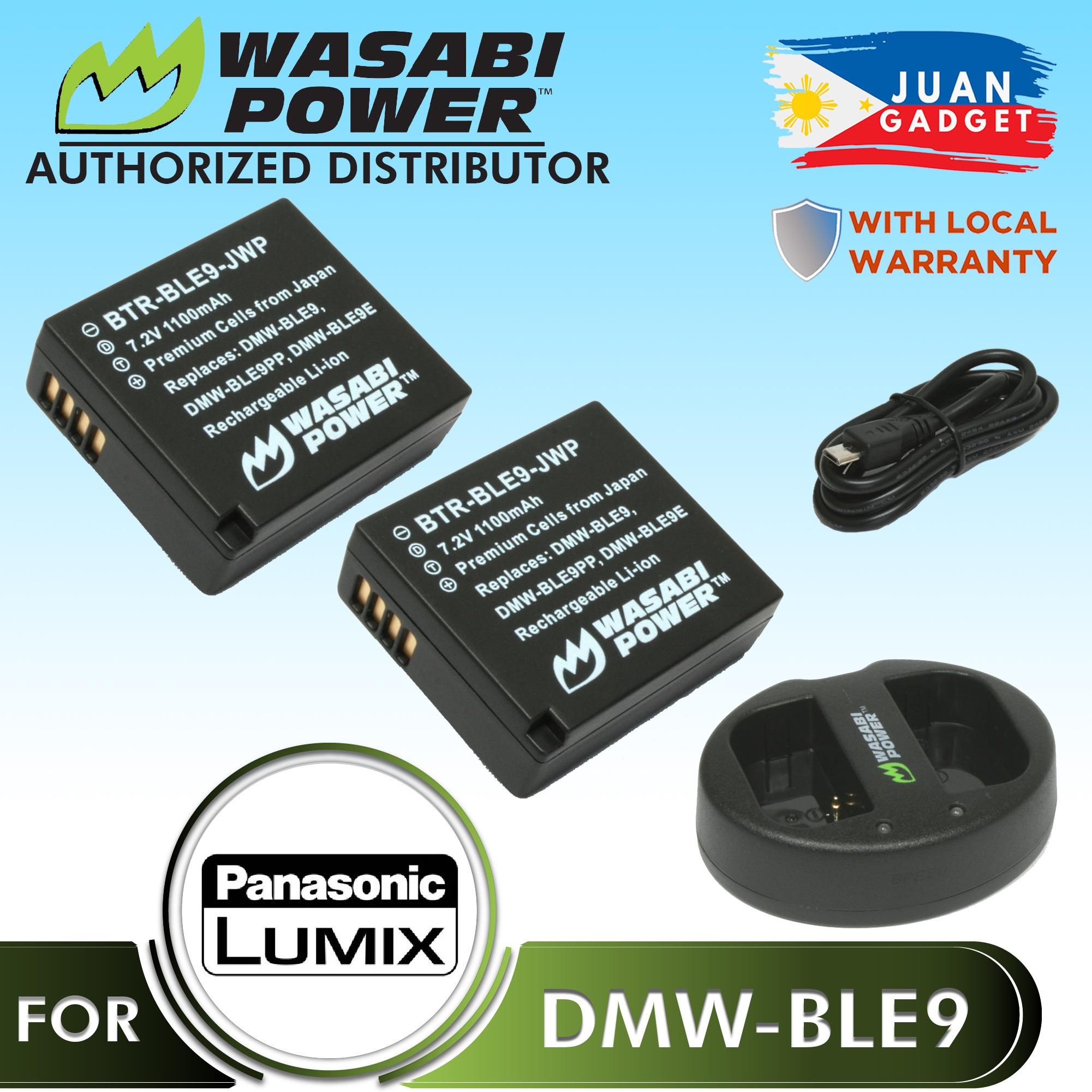 Wasabi Power Battery (2-Pack) and Dual USB Charger for Panasonic DMW-BLE9, BLE9 DMW-BLG10 BLG10 and Panasonic Lumix DMC-GF3, DMC-GF5, DMC-GF6, DMC-GX7, DMC-GX85, DMC-LX100, DMC-ZS60, DMC-ZS100