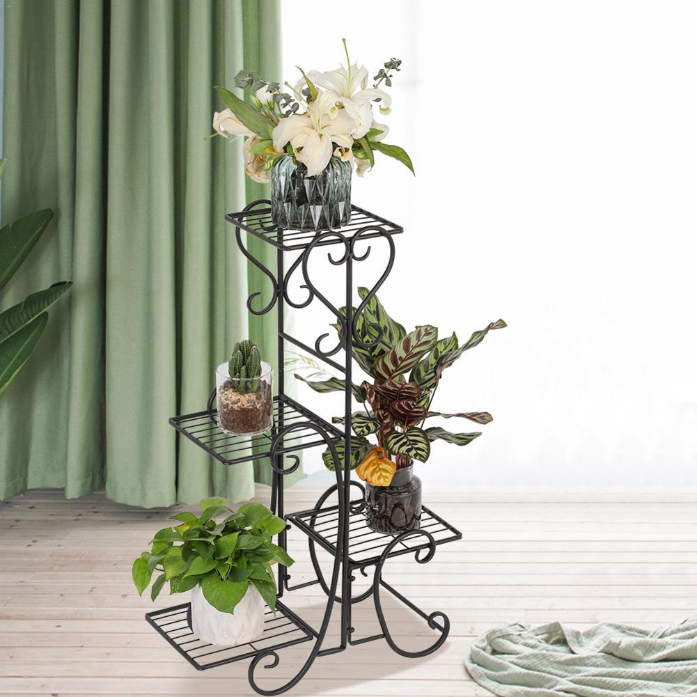 4 layers of fashion British metal outdoor outdoor potted plant courtyard  decorated flower rack iron frame