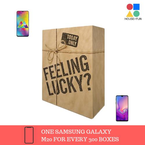 Mystery Box With A Chance To Win Galaxy M20(1 In Every 300 Boxes) By House Of Fun.