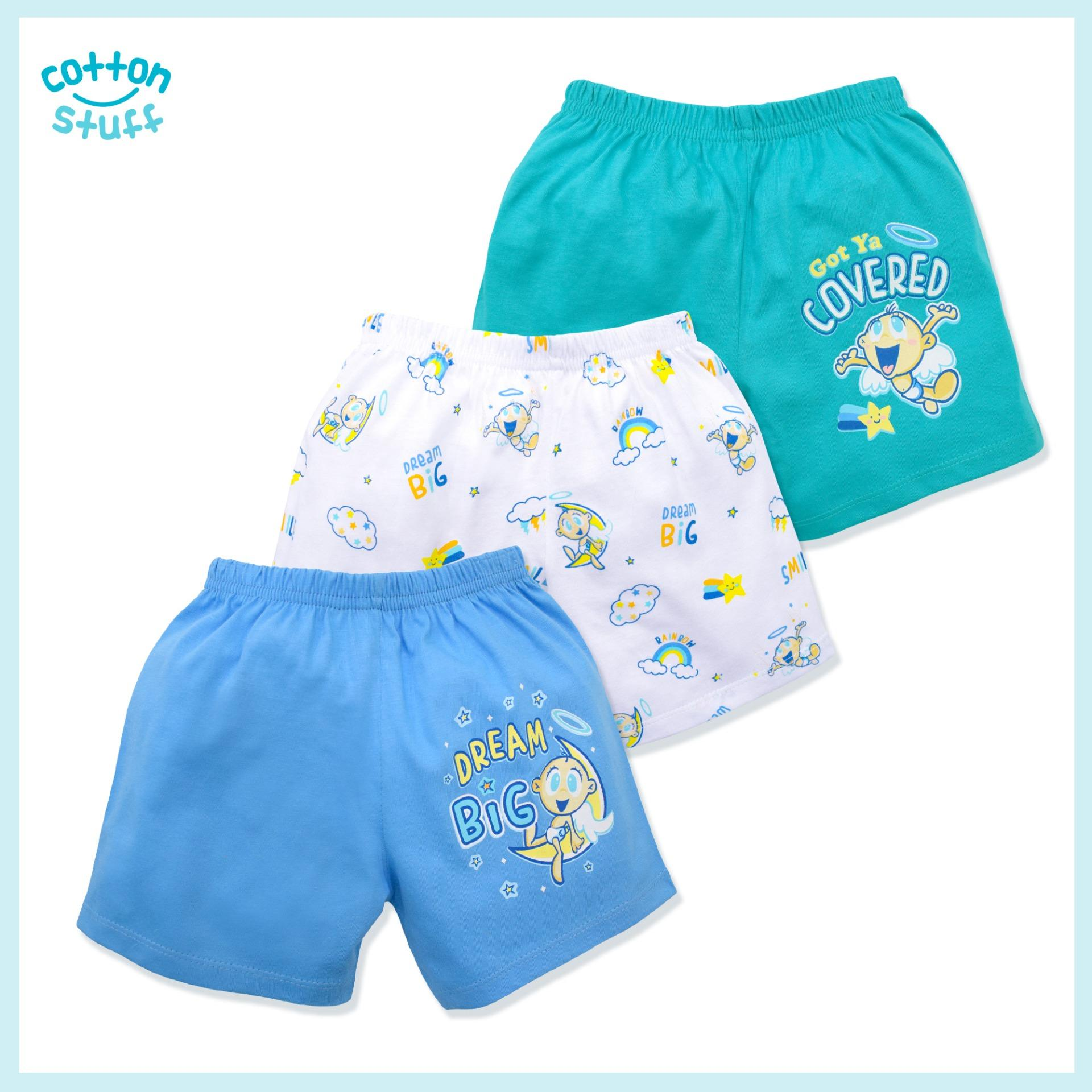 Cotton Stuff - 3-Piece Shorts (rainbow - Boy) By Cotton Stuff.