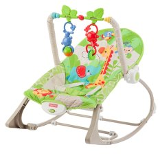 Fisher Price Rainforest Friends Infant To Toddler Rocker Green