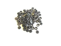 FLAPCAPS Screw Covers, The Garage Manila Screw Cap , Hinged Screw Cover , Snap Cover , Pack of 50 (Black)