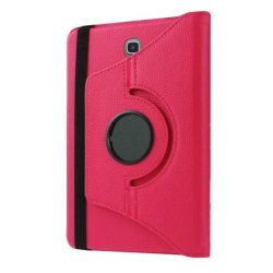 Flip Leather Case 360 Rotate for Samsung Galaxy Tab A (Pink)