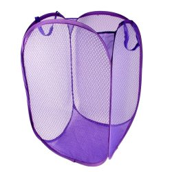 Foldable Laundry Bag Mesh Storage (Violet)