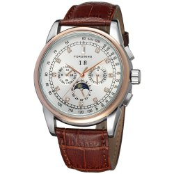 Forsining Men Mechanical Automatic Dress Watch with Gift Box FSG319M3T4 (White)