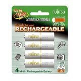 Fujitsu Ready-to-Use AA Rechargeable Batteries Set of 2 (White) - thumbnail 1
