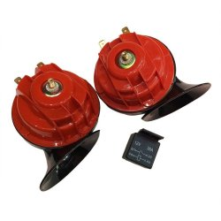 GAOBEN 24V Snail Car Horn (Black/Red)