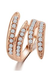 Gold-Plated Crystal Net Weaving Rings (Gold)
