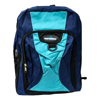 Great Outdoors School Bag Back Pack (Blue/Green)