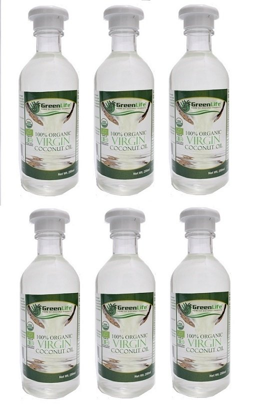 GreenLife 100% Organic Virgin Coconut Oil 250ml (Set of 6) product preview, discount at cheapest price