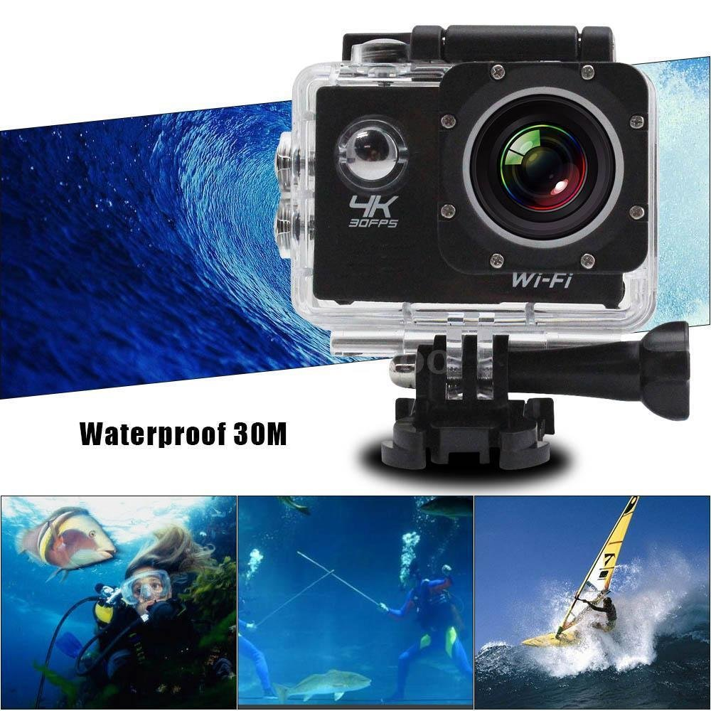 "H9+ 4K 12MP 2"" 1080P Ultra HD WiFi Sports Action Camera (Black)"