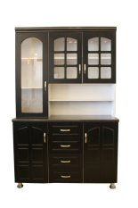 Hapihomes Morris 3-Door Kitchen Cabinet (black/white) By Hapihomes Finitureinc..