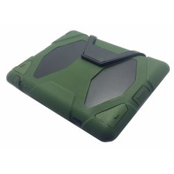 Heavy Duty Shockproof Case for Apple iPad 2/3/4 (Army Green)