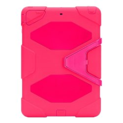 Heavy Duty Shockproof Case for Apple iPad Air 2 (Hot Pink)