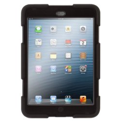 Heavy Duty Shockproof Case with Stand for Apple iPad Mini (Black)