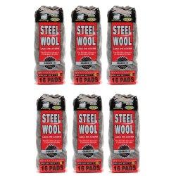 Hitech Steel Wool Grade No. #3 Coarse In 1 Display box x 6 bags