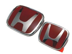 Honda Civic FD 2006-2011 Emblem (Red)