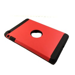 Hybrid Armor Case for Apple iPad mini 1/2/3 (Red)