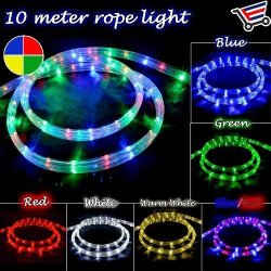 Indoor/Outdoor Super Bright Led Rope Christmas Light Decor 8-16 Mode