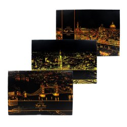 Inspire Lago Landmarks Scratch Night View Board Poster Set Of 3