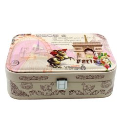 Inspire Vintage Arc de Triomphe Beige Jewelry Box (Small)