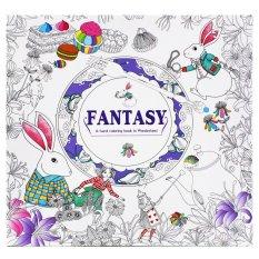 Inspire Zen Fantasy Stress Coloring Book Violet