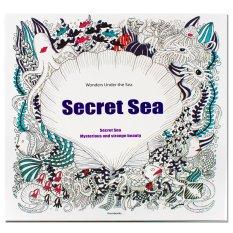 Inspire Zen Secret Sea Anti Stress Coloring Book Purple
