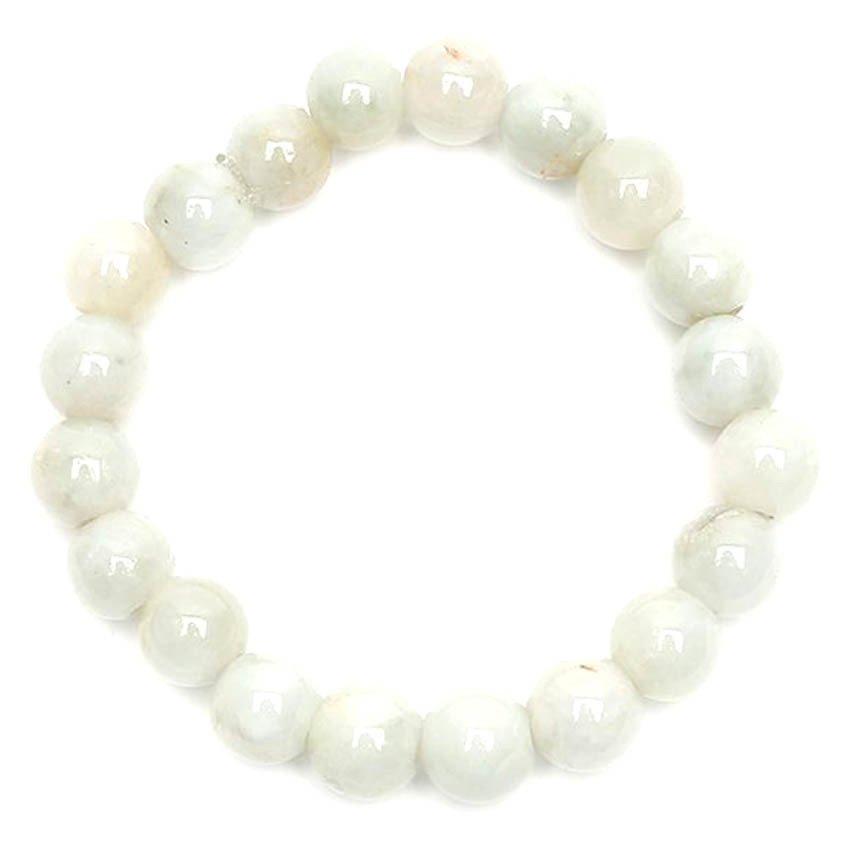 Burmese Jade Stones Bracelet by Jaded (Light Green) - thumbnail