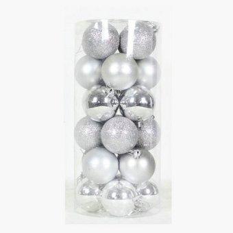 Jingle Bells Christmas Ball Wedding 4cm Photosphere (Sliver) (Intl)