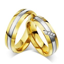 JJJ Jewelry Joe Couple Wedding Ring (Two Toned)