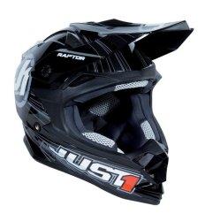Just 1 by Nitek Motard 0003 Raptor Helmet (Black)