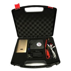 K23 Car Jump Starter Power Bank with Air Compressor Kit (Gold) - for Gasoline engines only