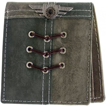 KayGurt Cross Lace Earth Tone Wallet (Dark Grey/Light Grey) - picture 2