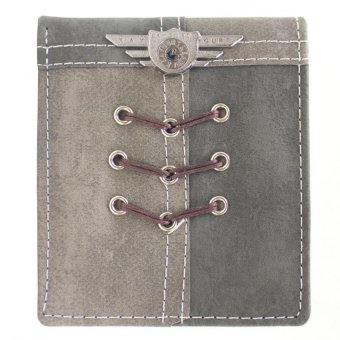 KayGurt Cross Lace Earth Tone Wallet (Light Grey/Dark Grey)