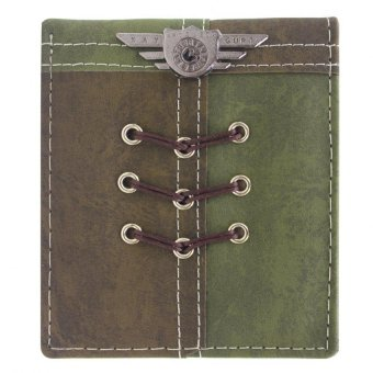 KayGurt Cross Lace Earth Tone Wallet (Neutral Green/Sap Green) - picture 2