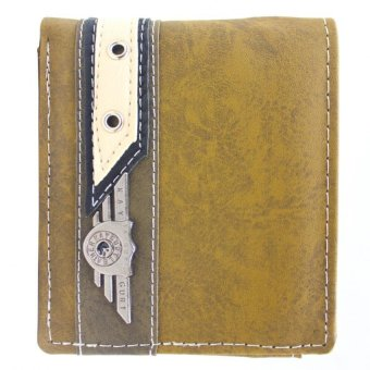 KayGurt White Streak Earth Tone Wallet (Brown/Neutral Green)