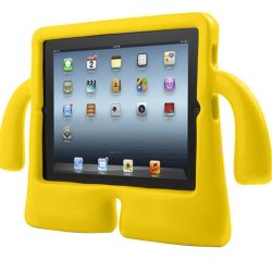 Kids Protective Handle Stand Cover for Apple iPad 2 3 4 (Yellow)