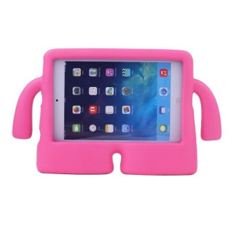 Kids Protective Handle Stand Cover for Apple iPad Mini 1 2 3 (Pink)