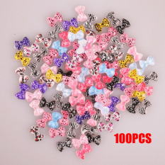 La Vie 100pcs Bowknot Design 3D Resin DIY Studs False Nails Art Crafts Accessories(Multicolor) Philippines