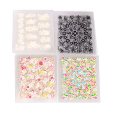 La Vie 50PCS Sparkling 3D Nail Art Decal Flower Sticker(Multicolor) Philippines