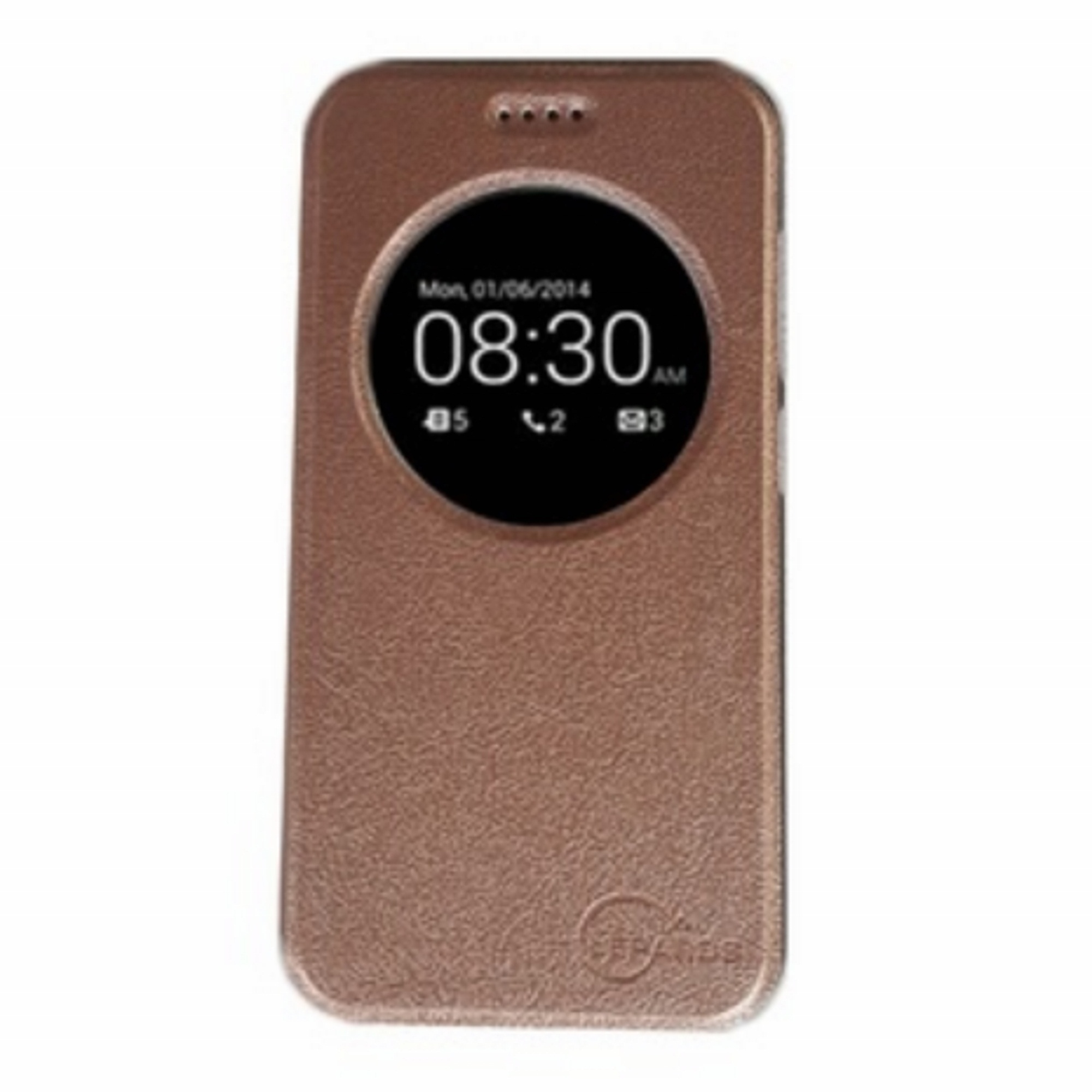 """Lepards Leather View Flip Cover for ASUS Zenfone 3 ZE552KL 5.5"""" (Rose Gold)"""