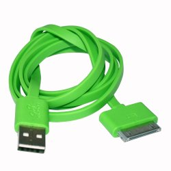 Limhong iPhone 4 Flat USB Cable (Green)