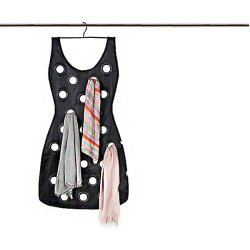 Little Black Dress Hanging Scarf Organizer